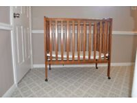 Folding wooden cot bed