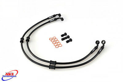 SUZUKI GSXR 600 SRAD 1996-1999 AS3 VENHILL BRAIDED FRONT BRAKE LINES HOSES RACE