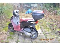 honda psi 125 moped, scorned for 4 years,previous two owners never drove over 30mph, reliable bike.