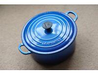 Le Creuset Cast Iron Casserole Dish 24cm, Marseille Blue - Nice Condition!
