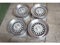 "Genuine Calibre Vintage 17"" Alloy wheels 5x100 & 5x112 VW Golf Polo Passat Audi A3 A4 Caddy Alloys"