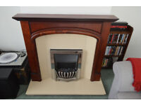 Fireplace Surround | composite / micromarble hearth and back | electric fire