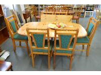 Pine Extending Dining Table and 6 Chairs - GT 063