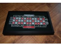 CASINO GAME SET-CRAPS-BOARD-ROULETTE-WHEEL Deluxe-3-in-1 (SELLING FOR £79 ON AMAZON)