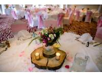 "Wedding decoration "" Log slices """