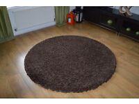 Large Dark Brown Rug