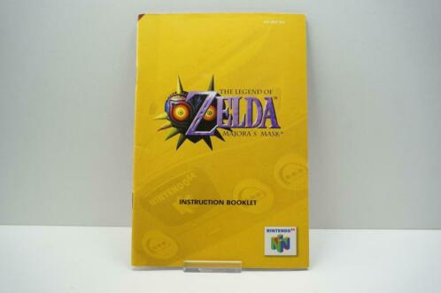 N64 The Legend of Zelda Majora's Mask Instruction Booklet