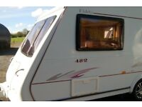 Immaculate 2 Berth Touring Caravan Registered 2006 with Motor Mover End Washroom