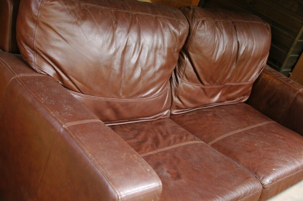 Surprising Free Faux Brown Leather Sofa 2 3 Seater In High Peak Squirreltailoven Fun Painted Chair Ideas Images Squirreltailovenorg