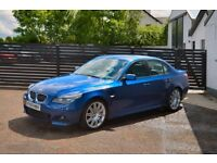 2007 BMW E60 530D M SPORT AUTO LE MAN BLUE TOP SPEC WARRANTY + LOW FINANCE £60 PW NOT 330D 320D 535D
