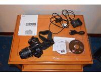 Nikon D3000 DSLR 18-55 VR Camera Kit