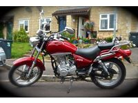 Absolutely Fantastic 125cc Lexmoto Arizona in deep red. Classy looking, Great Running!