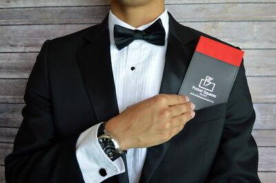 Pre Folded Pocket Square..100% Cotton...Executive..Prom..Graduation