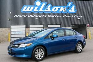2012 Honda Civic LX $43/WK, 4.74% ZERO DOWN! NEW TIRES! BLUETOOT