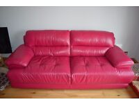 Deep Pink 3 and 2 seater couches