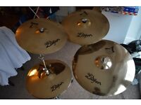 Zildjian A Custom set of 4 Cymbals