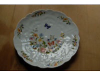 Vintage Aynsley scalloped edge cottage garden plate 18cm