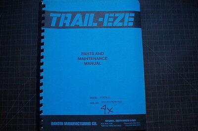 Trail-eze D25t Heavy Duty Tilt Bed Trailer Service Maintenance Parts Manual 26