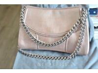 Good Condition Alexander McQueen Medallion shoulder bag in metallic pink