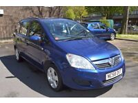 Vauxhall Blue Zafira Exclusive 1.6 CC 7 Seats