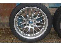 "18"" Genuine BBS split rim BMW E39 type 42 alloys staggered set"
