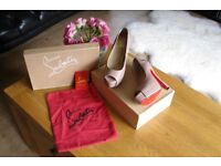 Nude Louboutin Style shoes Size 4 for sale.