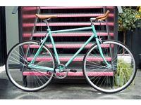 Hackney Club single speed fixed gear fixie road bike/ bicycles + 1year warranty & free service aa3