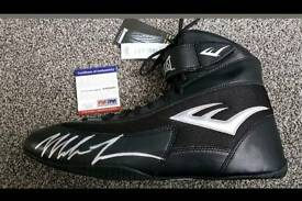 PSA Mike Tyson hand signed Boxing boot with PSA Coa