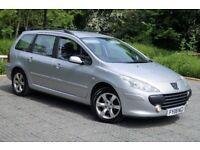 "Peugeot 307 1.6 HDi* Reg.2008 * 1 Owner* Full Service* 8 Mot&Tax* 16"" Alloys"