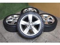 """Genuine VW Passat 17"""" Fontana Alloy wheels & Tyres 5x112 Eos Golf MK5 MK6 Caddy Audi Alloys"""