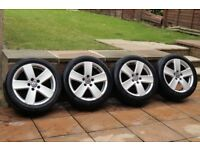 "17"" VW Passat Alloys Wheels & Tyres 235/45/17 5x112 Golf MK5 GTI Touran Caddy T4 VW R Line"