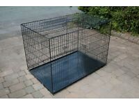 "Ellie-Bo 48"" XXL Deluxe Dog Cage Carrier Crate"
