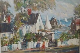 Original and Signed Oil Painting by Charles Gordon Marston