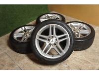 "Genuine Mercedes C Class AMG 17"" Alloy wheels 5x112 C Class Alloys W204"