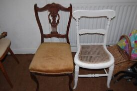 2 OLD CHAIRS NEEDS SOME TLC. WHITBY COLLECTION.