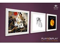 Display your vinyl: Art Vinyl Play & Display Record Frame Triplepack (White)