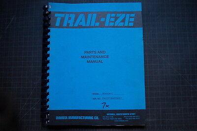 Trail-eze Te50t Heavy Duty Tilt Bed Trailer Service Maintenance Parts Manual 26