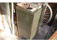 Vintage Green Industrial Filing Cabinet