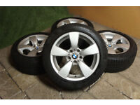 """Genuine BMW 5 Series E60 E61 17"""" Alloy wheels & Winter Tyres 5x120 Snow Ice Alloys"""