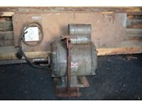 Old electric motor, Brook Crompton Parkinson Motors, 1500W, single phase, used to be with a lathe.