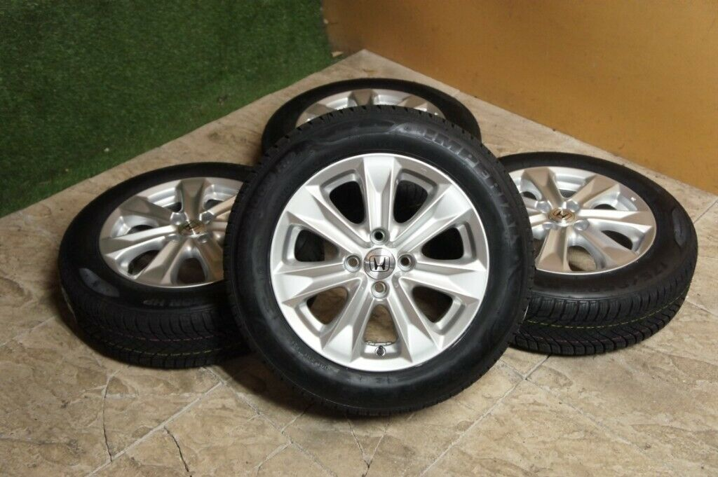 New Honda Jazz 15 Alloy Wheels New Winter Tyres 4x100 Alloys