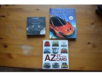 2 Fast Cars books and AZ of 21st Century Cars book