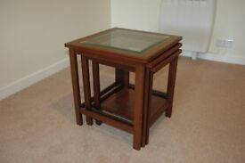 Nest of Tables (3) with Glazed Tops