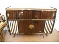 vintage Blaupunkt radio with record player and mini bar