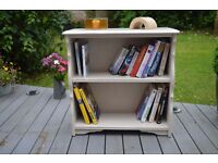 Hand Painted Distressed Finish Bookcase