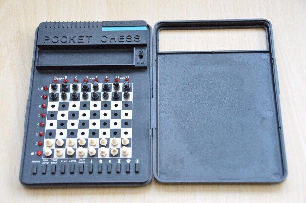 Rare Retro Pocket chess Kasparov chess Computer with original box, Thatcham, Berkshire