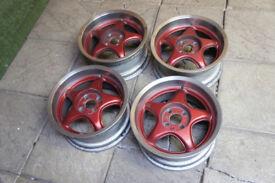 "Genuine Centra 15"" Alloy wheels 4x100 Golf Polo Clio Corsa Civic Deep Dish Alloys"