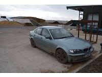 BMW e46 330d. M57 engine 184 bhp. Braking for spares.