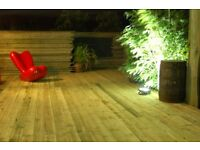 New Contemporary Flat Boarded Treated Decking and Base 3.6m x 2.4m