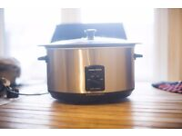 Morphy Richards 48705 Sear and Stew Slow Cooker 6.5 Litres - Brushed